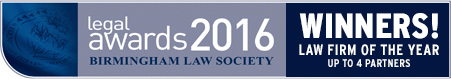 Shortlisted for the Birmingam Law Society Awards 2016