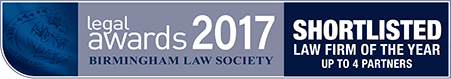 Shortlisted for the Birmingham Law Society Awards 2017